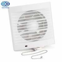 220V 16W 5 Inch Household Window Type Silent Extractor Exhaust Fan Hotel Glass Windows Wall Kitchen