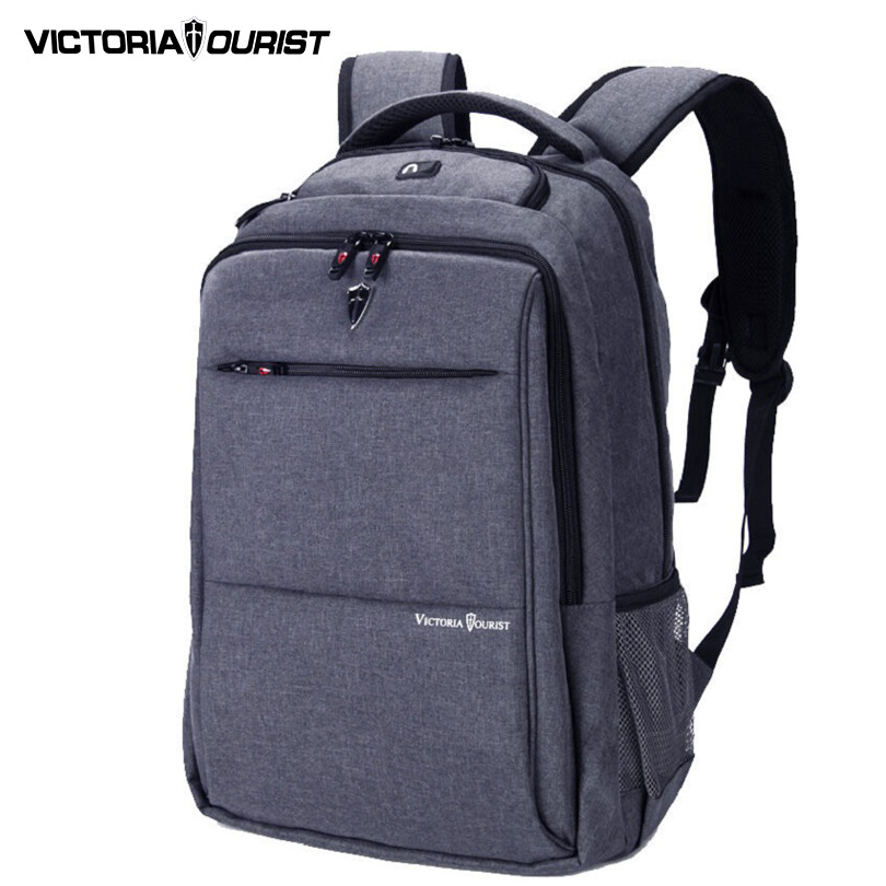 VICTORIATOURIST 15.6 inch laptop backpack Mens mochila Escolar /Business/Travel Waterproof nylon rucksacks Gray/Black 9006 ...