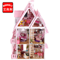 AIBOULLY DIY 키트 인형 집 미니어처 스케일 모델 퍼즐 나무 인형 집, 고유 큰 사이즈 하우스 장난감
