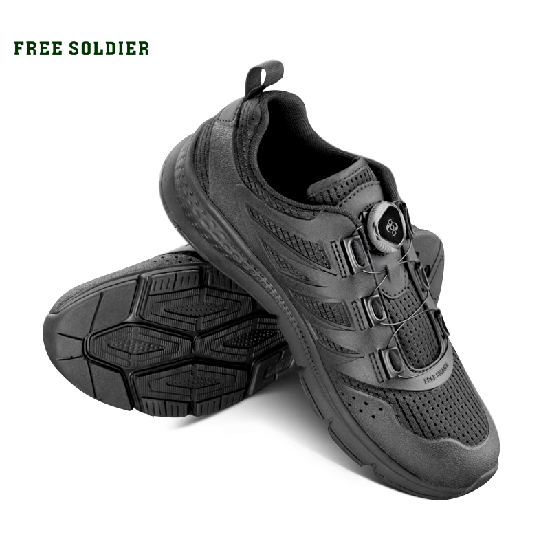 FREE SOLDIER Tactical Training Shoes Non slip Lightweight Walking Shoes Men s Summer Breathable Climbing Hiking