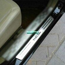 Нержавеющей порога Накладка крышки отделка Подходит для Hyundai Tucson 2004 2005 2006 2007 2008 2009 автомобилей Интимные аксессуары автомобиля стайлинг 4 шт.