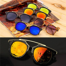 Super Star Fashion Sunglass 2016 new cat eye coating sunglasses women brand designer vintage sun glasses for men oculos de sol