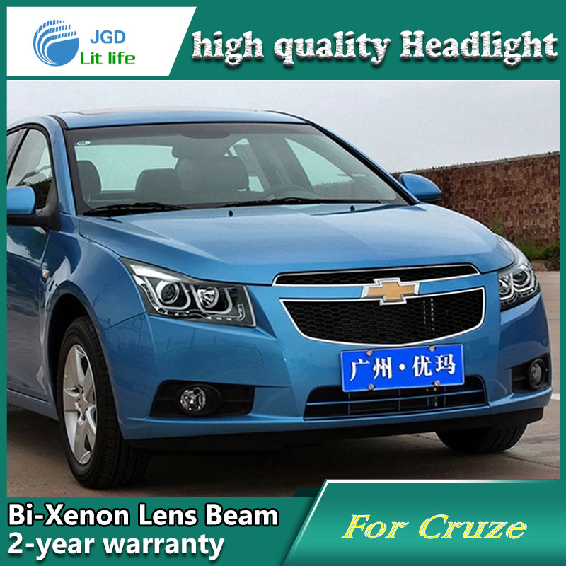 high quality Car styling case for Chevrolet Cruze 2009-2013 Headlights LED Headlight DRL Lens Double Beam HID Xenon high quality car styling case for mitsubishi lancer ex 2009 2011 headlights led headlight drl lens double beam hid xenon