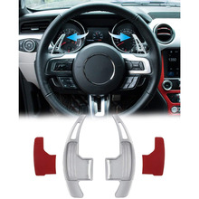 Chuang Qian 2Pcs Steering Wheel Dull Polish Shift Paddle Shifter For 2015-2019 Ford Mustang (Silver) цены