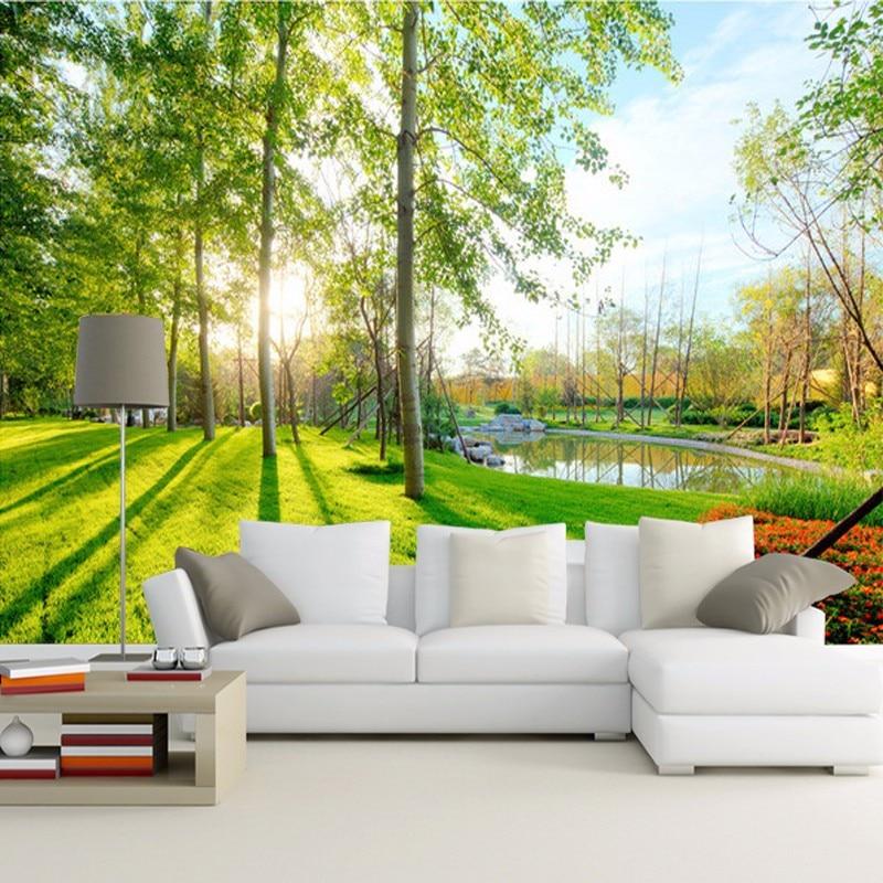 Beibehang 3D photo wallpaper natural park tree