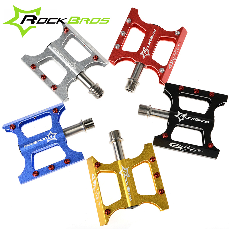 ROCKBROS Easy to Install Bicycle Pedal Titanium Ultralight Bike Pedals Non-slip MTB Mountain Road Bike Pedals Bicycle Parts rockbros bicycle trainer roller training tool road bike exercise fitness station mtb bike trainer tool station 3 stage folding
