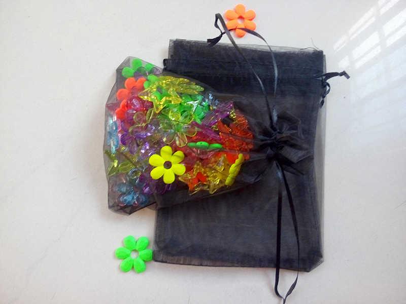 """100 יחידות אורגנזה שרוך פאוץ תיק 20x30 ס""""מ חתונה/יום הולדת/מתנת חג מולד אריזת תכשיטים תצוגת שקית אחסון שקיות"""