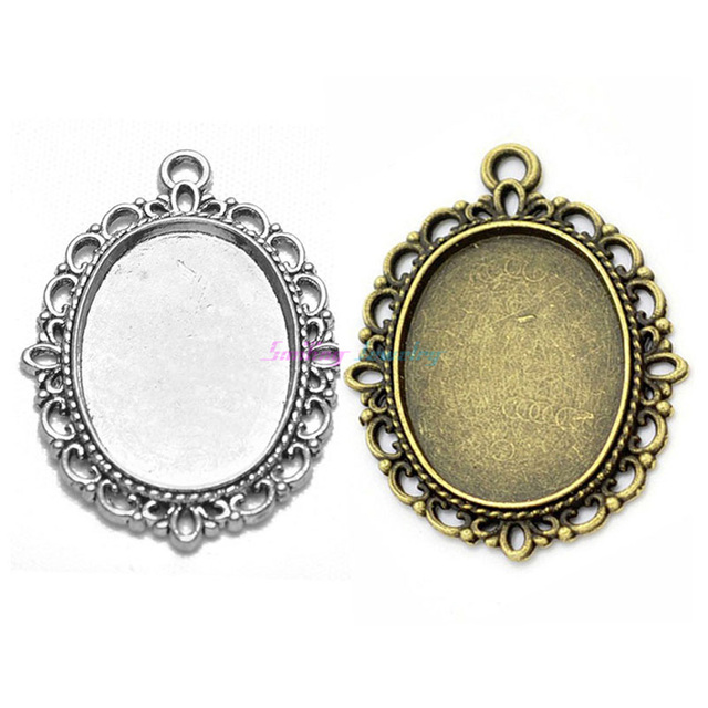 10pcs fit 18mm25mm oval cameo glass cabochon setting silver 10pcs fit 18mm25mm oval cameo glass cabochon setting silver plated bezel blank pendant base aloadofball Images