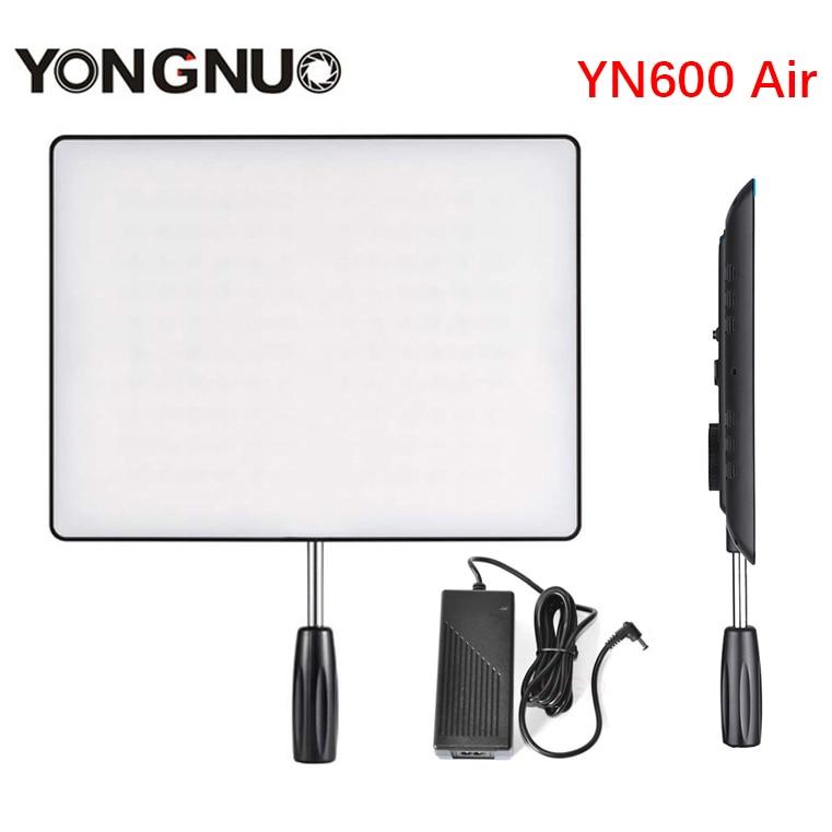 NEW YONGNUO YN600 Air Led Video Light Panel 3200K-5500K Bi-color Photography Studio Lighting +AC Adapter