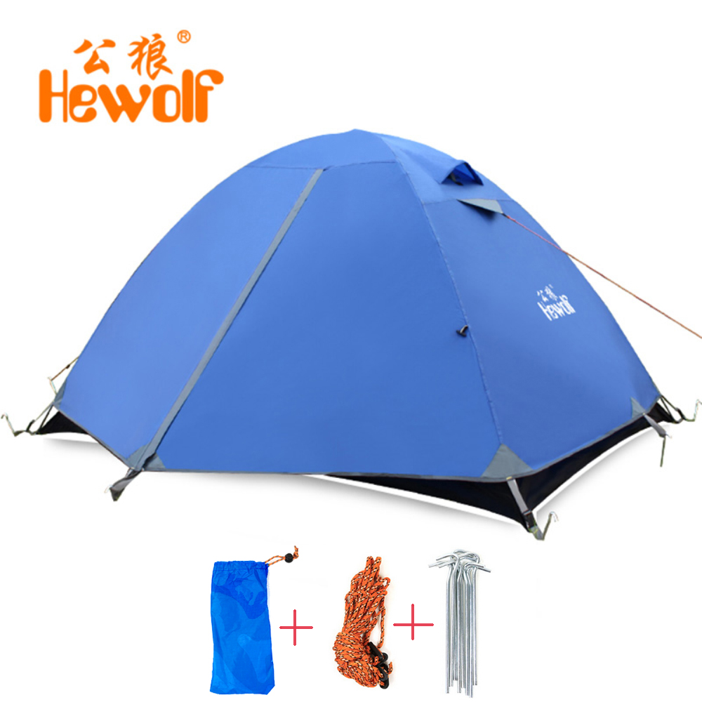 Two Peoples Outdoor Camping Tent for Hiking Trekking Fishing Three-Season Tent Polyester PU Coating oliver peoples оптические очки tolland