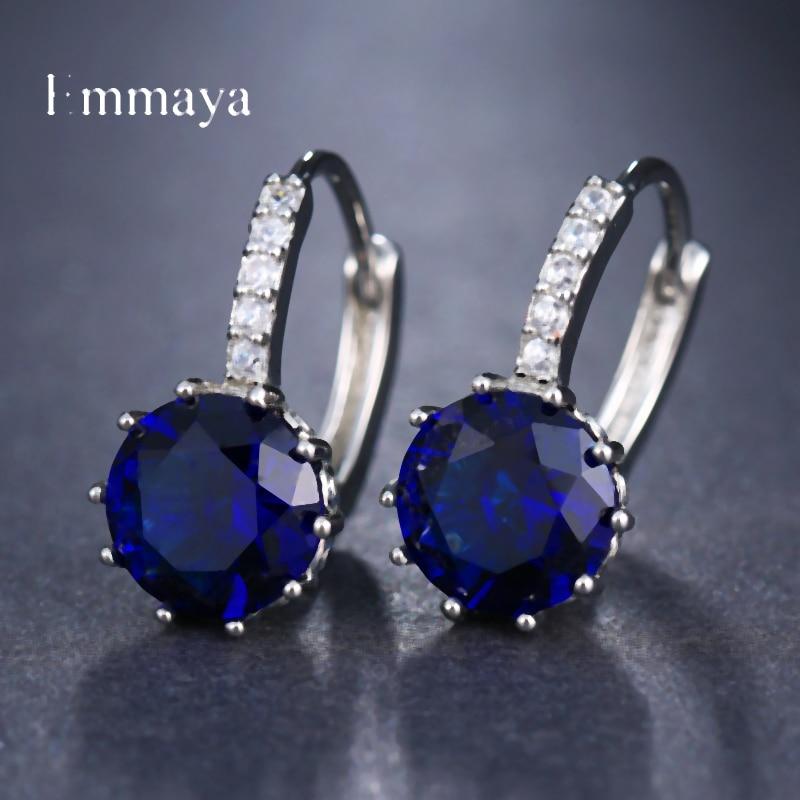 EMMAYA Fashion 10 Colors AAA CZ Element Stud Earrings For Women Wholesale Chea Factory Price 13
