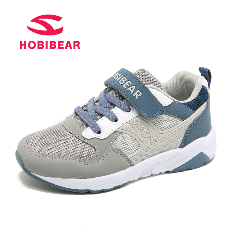 HOBIBEAR Spring Autumn Trainers For Children Shoes Boys Sneaker Girls Casual Shoes Kids Breathable Patchwork Sport Running Shoe forudesigns kids sport shoes boys girls for children walking cycling running nebula pringting lace up sneaker shoes outdoor