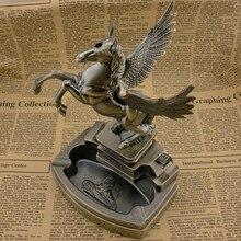 Pferd form stil Metall aschenbecher feuerzeuge geschenke weihnachtsgeschenke weihnachtsgeschenke handwerk geschenke dekorationen, tabak fach LP-A803
