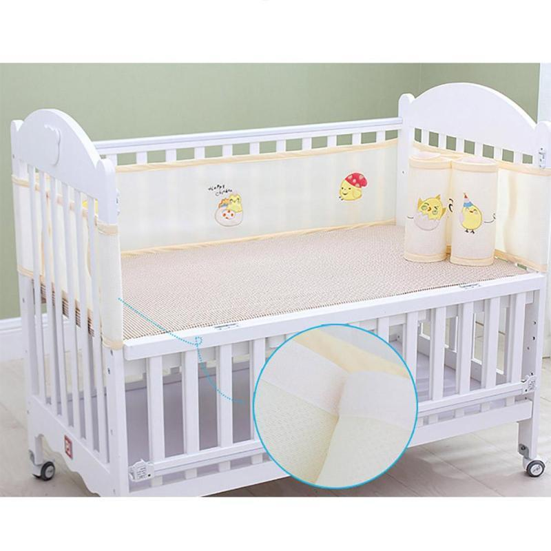 2PCS Baby Bed Bumper 3D Breathable Bulletproof surrounding Crib Bumpers Bedding Cradle Liner Crib Netting Protector 128x68cm A4