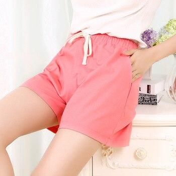 Danjeaner S-2XL Shorts Feminino Women Casual Fashion Candy Color Wide Leg Shorts Plus Size Loose Leisure Drawstring Shorts 1