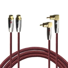 2x RCA Male to 2x RCA Female Audio Extension Cable For Subwoofer Amplifier Speaker TV Receiver