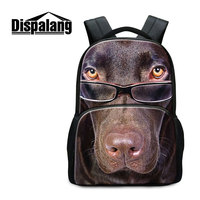 Dispalang Fashion Children 3D Dog School Bags Personalized Zoo Animal Felt Backpacks For College Students Men