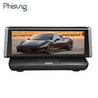 Phisung E02 8 Dashboard Portable Car DVR Dash Cam 4G WiFi Android Full HD 1080P GPS Navigation Registrar Video Recorder Monitor