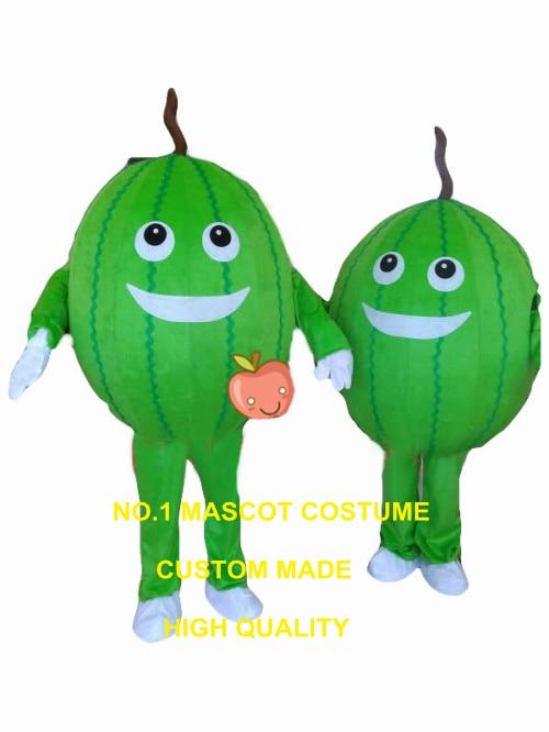Traje de mascota sandía al por mayor 1 pieza personalizado fresco verano fruta tema anime cosplay disfraces carnaval vestido de fantasía 3427