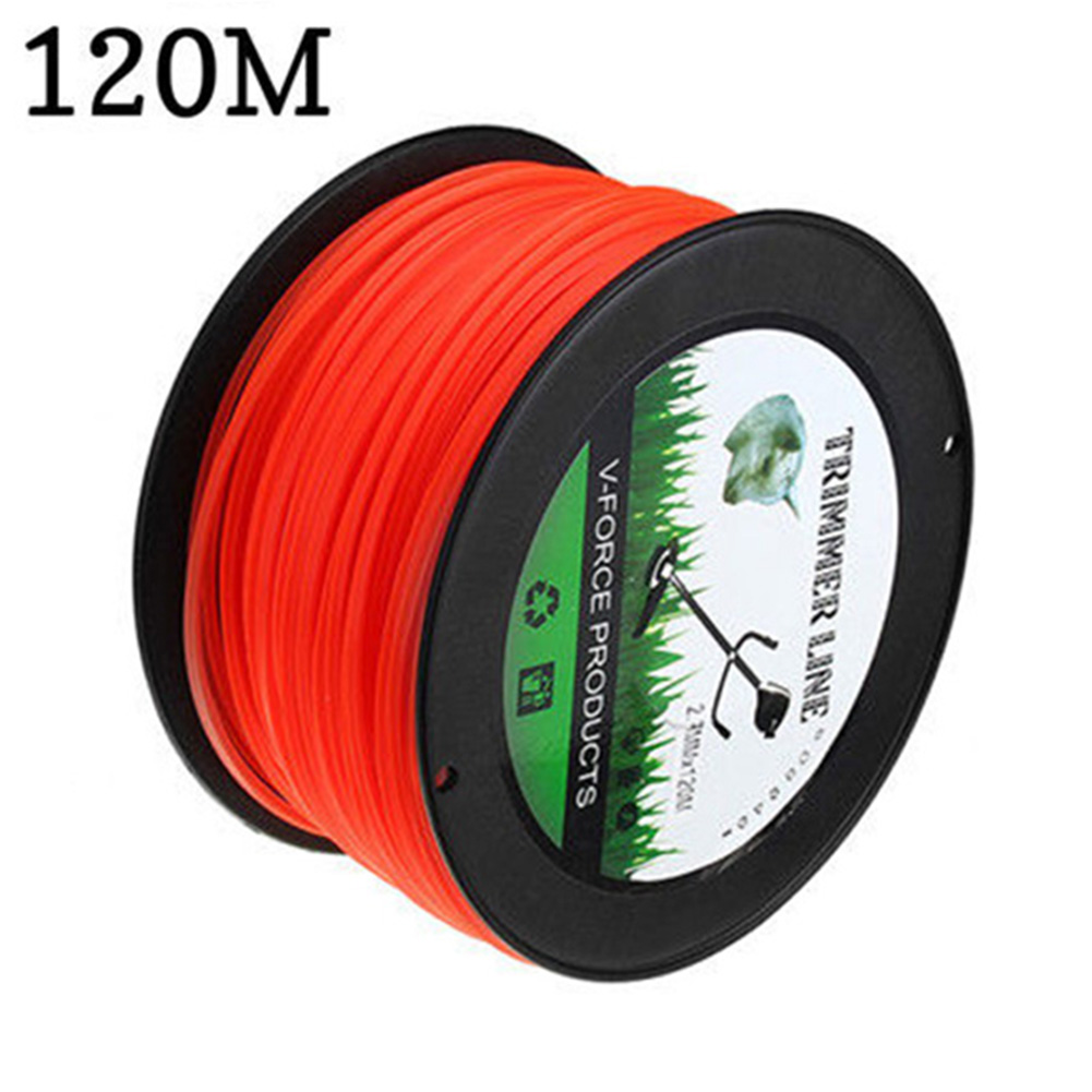 Agriculture Brushcutter Wire Lawn Accessories Nylon Rope Tools Square 15/50/120m Grass Cutting Garden Trimmer Line 2.7mm