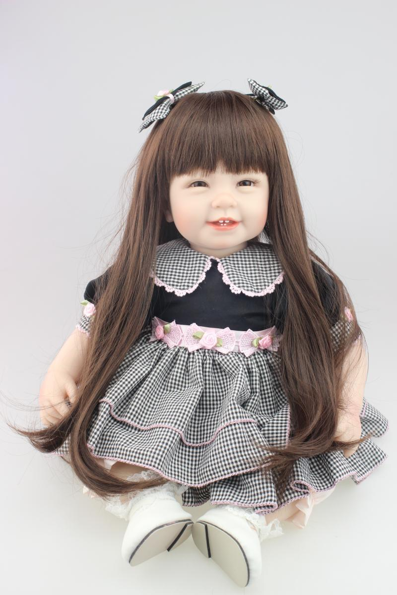Silicone vinyl baby doll toys for girl lifelike smile babies play house toy birthday gift girl brinquedodsSilicone vinyl baby doll toys for girl lifelike smile babies play house toy birthday gift girl brinquedods
