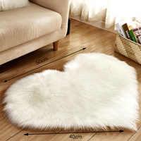 Herz Halb Runde Teppiche Wolle Nachahmung Schaffell Haarigen Teppich Faux Boden Non Slip Schlafzimmer Matte Pelz Plain Flauschigen Weichen Bereich tapetes