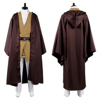 Star Wars Cosplay Costume Adult Mace Windu Tunic Costume Cloak Halloween Party Costume Tailor Made Full Set
