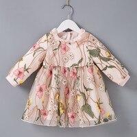 High quality Toddler Girl Dresses Summer 2018 New Brand Cotton Flower Princess Baby Birthday Party tutu Dress Infant Vestidos
