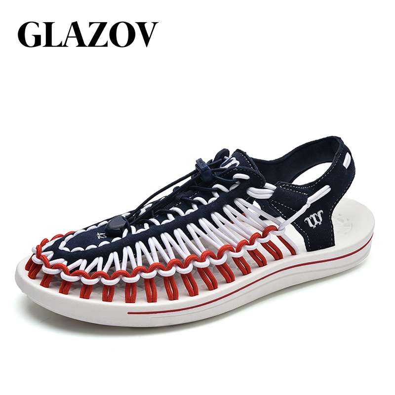 GLAZOV Brand 2019 Summer Sandals Men Shoes Quality Comfortable Men Sandals Fashion Design Casual Men Sandals Shoes Size 37-45(China)