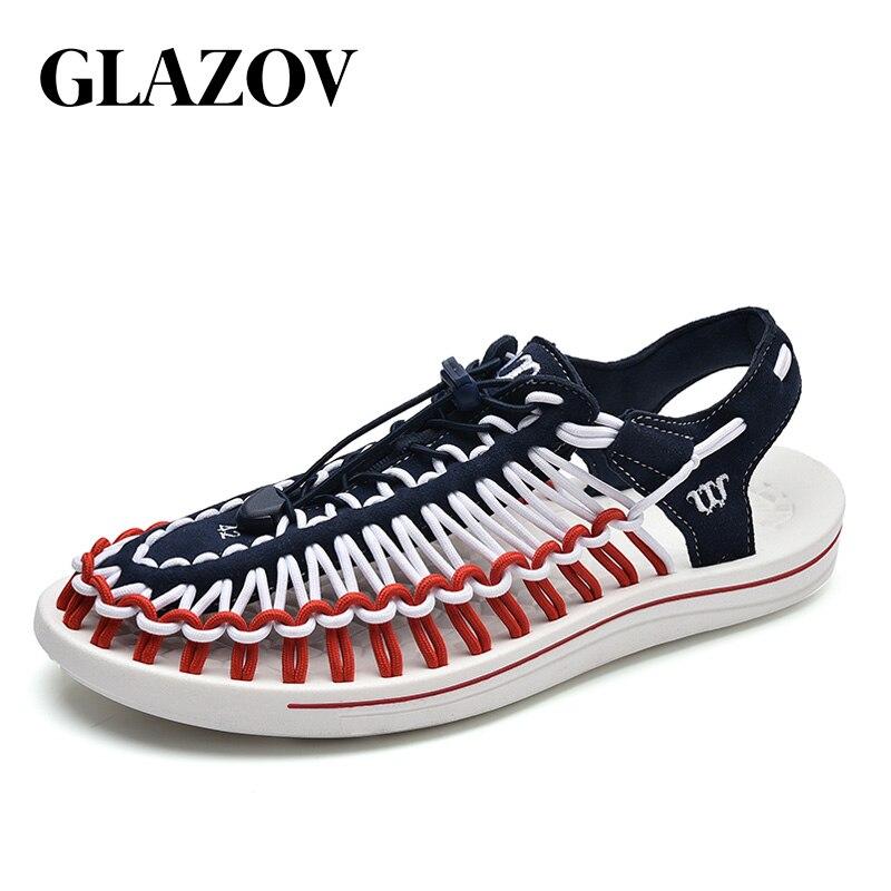 GLAZOV Brand 2019 Summer Sandals Men Shoes Quality Comfortable Men Sandals Fashion Design Casual Men Sandals Shoes Size 37-45