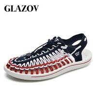 GLAZOV Brand 2019 Summer Sandals Men Shoes Quality Comfortable Men Sandals Fashion Design Casual Men Sandals Shoes Size 37 45