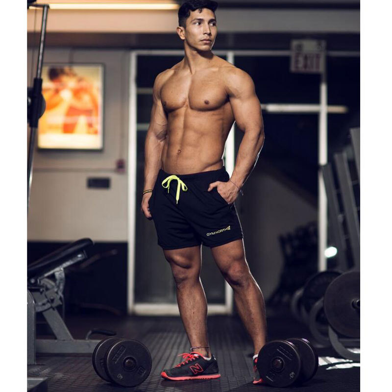 GYMNORTH Shorts Bermuda Masculina Ocasional Dos Homens 2018 Marca Respirável de secagem Rápida Curto Masculino Curto Verão Calças Curtas Meninos