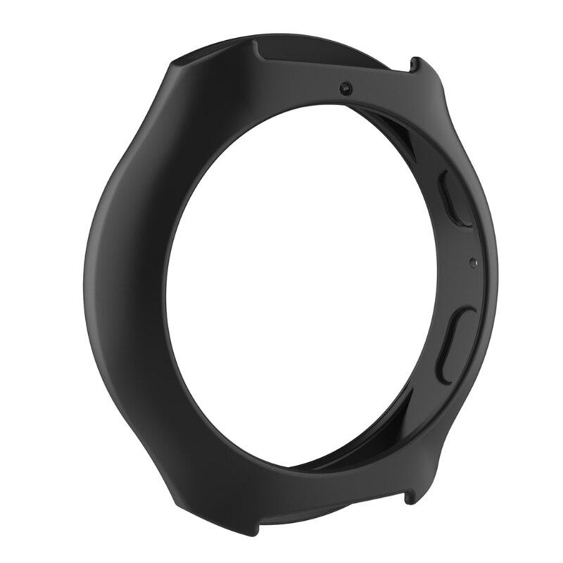 Мягкий силиконовый защитный чехол для SamsungGalaxy gear S2 SM-R720 и SM-R730 - Цвет: BK