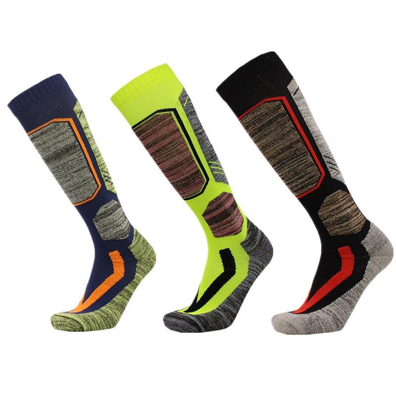 Calcetines de esquí JDENKE invierno cálido hombres mujeres ciclismo al aire libre snowboard senderismo deporte calcetines gruesos termocalcetines