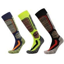 JDENKE Лыжные носки зимние теплые для мужчин женщин Открытый Велоспорт Сноубординг пеший Туризм Спорт толстые термо