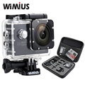 "Wimius 1080 p action sports camera 2.0 ""lcd wifi full hd 12mp mini Capacete de vídeo DV Ir À Prova D' Água + Saco de Proteção Pro + 2 Baterias"