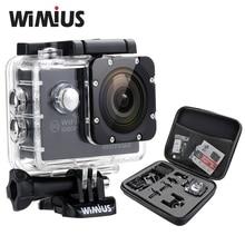 Wimius 1080p Action Sports Camera 2.0″LCD WiFi Full HD 12MP Mini Video Helmet DV Go Waterproof + Protective Bag Pro +2 Batteries