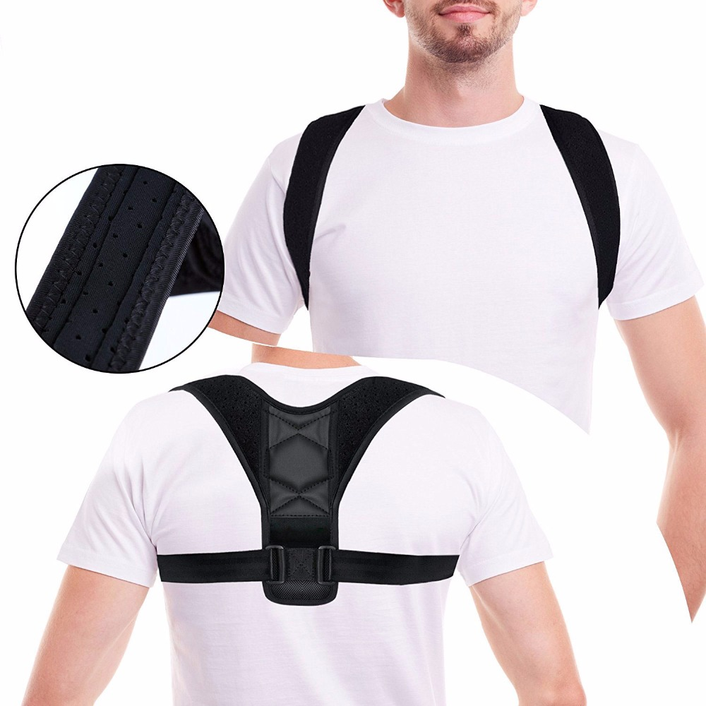 Adjustable Back Posture Corrector Clavicle Spine Back Shoulder Lumbar Brace Support Belt Posture Correction Prevents Slouching 1080p h 264 1 3 cmos ar0330 mini cs mount usb camera with 8mm manual focus lens for android windows linux