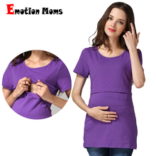 Emotion Moms Summer Maternity clothes pregnancy top Nursing T-shirt Breastfeeding clothes for pregnant women Maternity Tops цена и фото