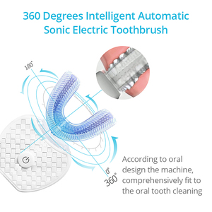 Image 3 - 360 Degree Sonic Electric Toothbrush New Upgrade Generation Blue Light Intelligent Memory Tooth Brush Inductive Charging U Type