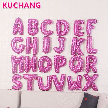 200pcs/lot 16inch A-Z Gold Silver Blue Pink Letter Alphabet Aluminum Foil Balloons Wedding Birthday Party Decoration Supplies