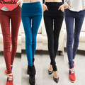 2015 Spring And Fall Woman Fashion Leggins Bodybuilding And Fitness Women High Waist Leggings Zipper Solid Pencil Pants C008