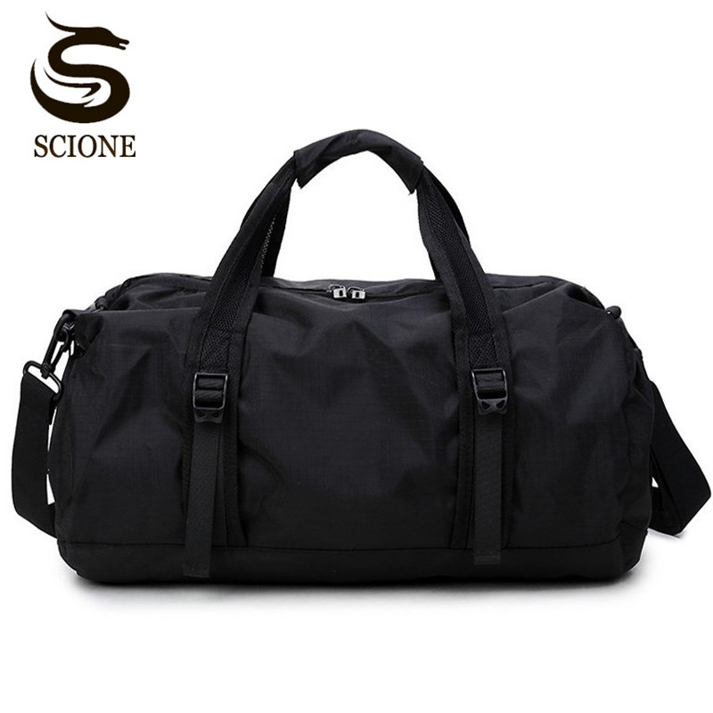 Scione Travel Sports Bag Multifunction Travel Duffle Bags For Men & Women Collapsible Bag Large Capacity Duffel Folding Bags
