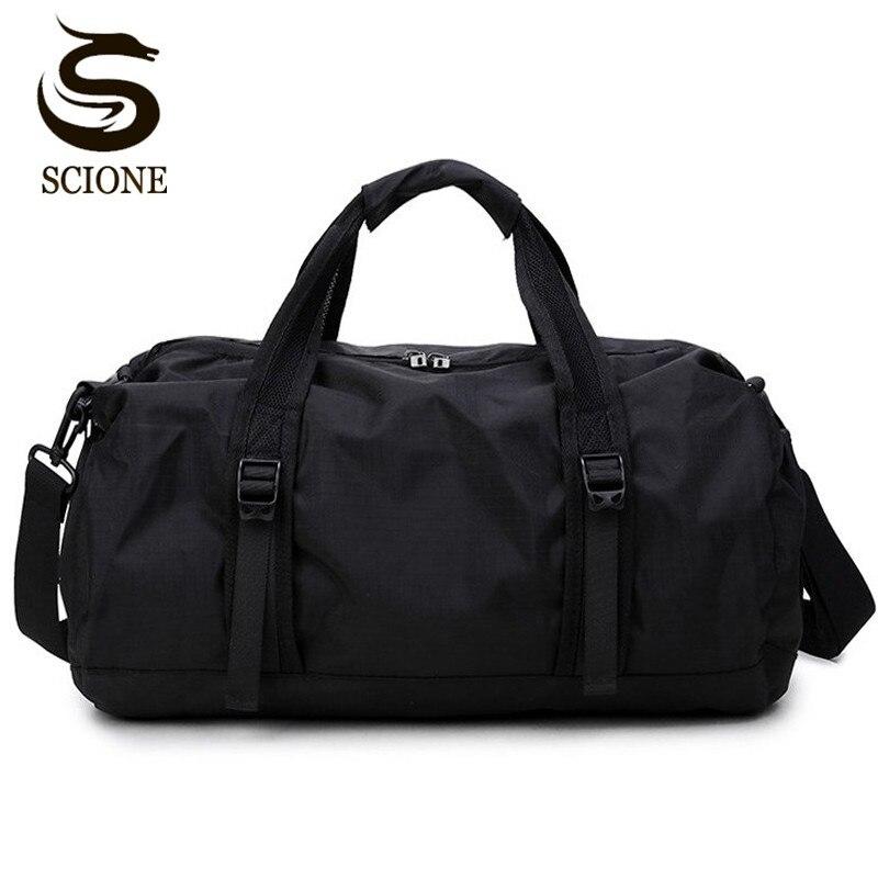 3edce32afc3 Scione Waterdichte Reistas Multifunctionele Reizen Plunjezakken voor Mannen  & Vrouwen Inklapbare Bag Grote Capaciteit Duffel Zakken Vouwen in Scione ...
