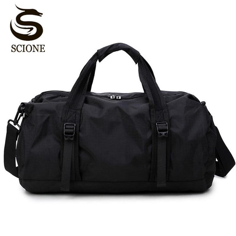 Scione Waterproof Travel Bag Multifunction Travel Duffle Bags for Men & Women Collapsible Bag Large Capacity Duffel Folding Bags цена