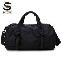 Scione viagem saco de desporto multifunction viagem duffle sacos para homem e mulher dobrável grande capacidade duffel sacos de dobramento