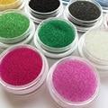 14 Colores 0.4mm ~ 0.6mm Del Arte Del Clavo Dulce Magia 3D Diseño de Color Transparente de Cristal Perlas de Caviar Manicura Microperlas decoraciones B014
