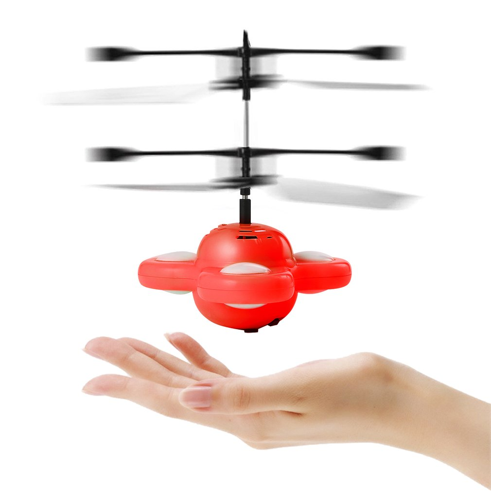 LED RC Flying Ball Drone Helicopter Magic Flying Saucer Colorful Stage Lamp Infrared Hand Induced Floating Flight UFO Ball Toys