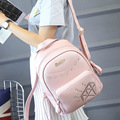 Favocent 2017 New Brand  PU Leather Backpack Women 12Inch Laptop Women Bag Fashion School Bags LOGO mochila Notebook for Girls
