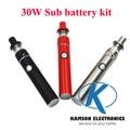 Мини 5pin стороны пополнение мини-смарт 30 Вт электронная сигарета жидкостью vape комплект с дополнительные батареи 1.5 мл танк против Subvod мега Ijust 2 topbox